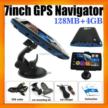 "7"" inch HD Wince 800mhz 128mb/4gb Portable Car Navigator GPS with Free map"