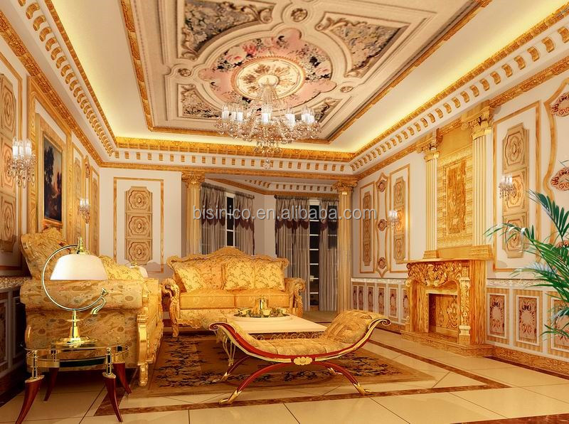 Luxurious Decoration 3D MAX Interior Rendering For European Style Villa