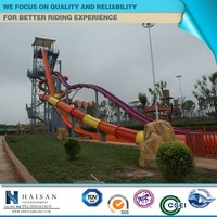 exciting and attractive popular amusement equipment, water slide adult