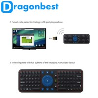 Dragonbest New RC 7 air mouse keyboard MC7 wireless touchpad remote control