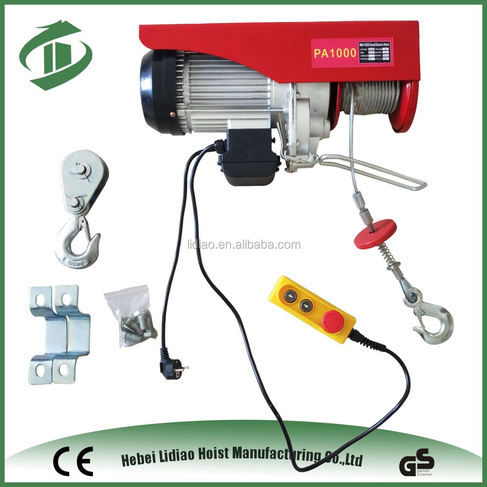 High Efficiency 1000kg Mini Electric Truck Mounted Cranes Hoist