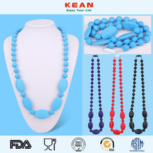 Silicone Teething Necklace Wholesale/BPA Free Teething Necklace Silicone teeth Neckalce
