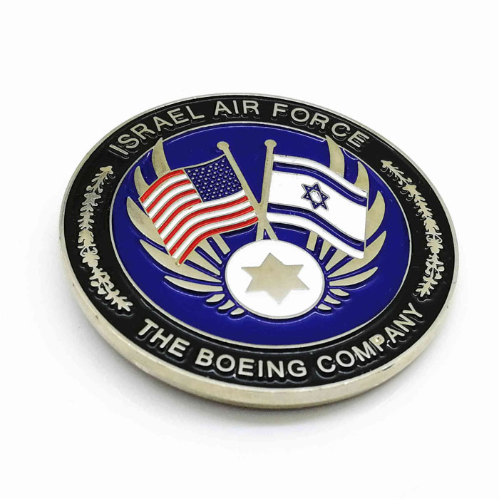 Quick production custom high quality soft enamel Air Force Military Branch Challenge Coin