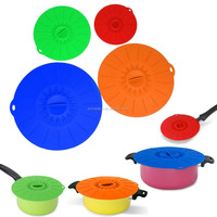 Cooking Utensils Silicone Suction Lids Match For Cups, Bowls, Pans, Containers
