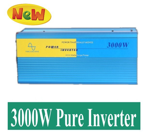 home pure sinus  inverter Pure sinusgolf freeshipping Pure Sine Wave inverter 3000w peak 6000W DC 12V /24v to AC 220V converter