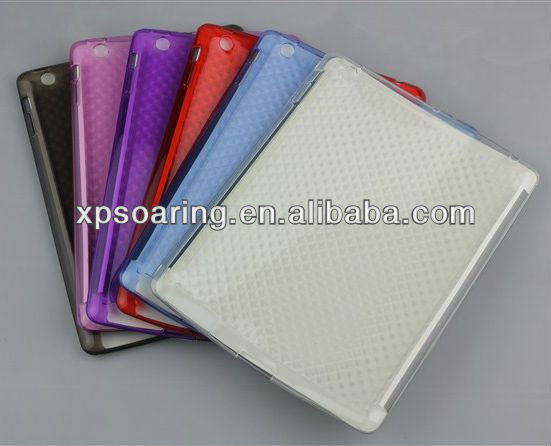 hot sell for the new ipad ipad 3 tpu rubber case cover