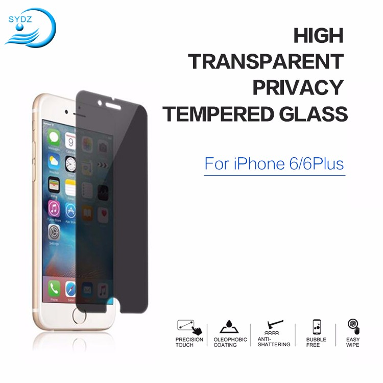 High Transparent 9H 2.5D Privacy Phone Screen Protector For Iphone 7