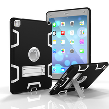PC+silicone kickstand armor case shockproof tablet case for iPad 6