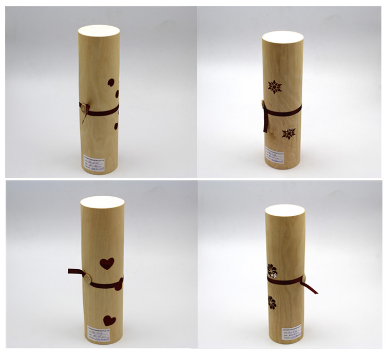 laser hollow out birch veneer wood box