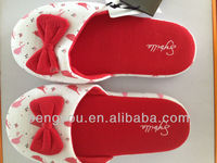 red bowknot new design high quality woman slipper