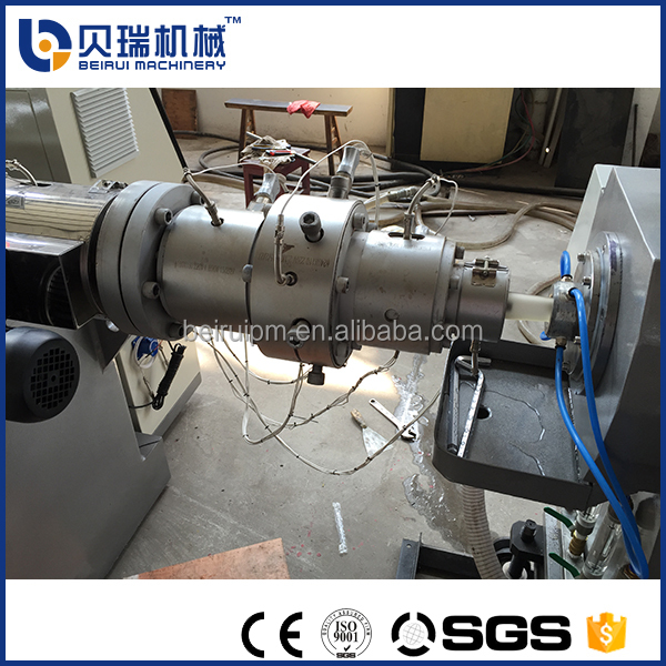 Low price second hand plastic extruder machine for pe supply water pipe