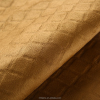 China supplier for high quality composite suede fabric with 92% polyester and 8% spandex of new pattern suede
