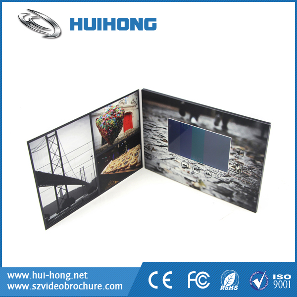 Business Gift Use promotion lcd video postcard/video brochure