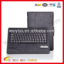 New style orange leather case for ipad with keyboard