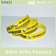 manufacture direct sell cheapest high quality custom silicone bracelets/silicone rubber wristband for ICE HOCKEY CLUB