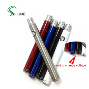 Popular selling electronic adjustable vape pen variable voltage vape preheating battery adjustable 400mah evod vaporizer pen