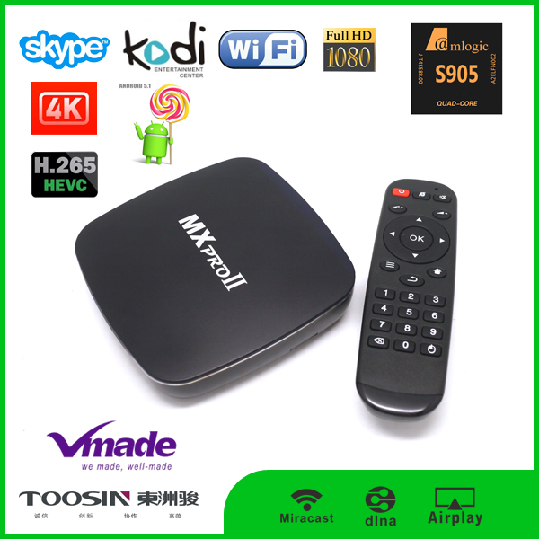 5.1.1 Android internet tv box Support most external 3G USB dongle