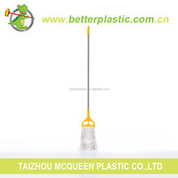 Factory sales promotion hot selling new design plastic clip cleaning white cotton mop