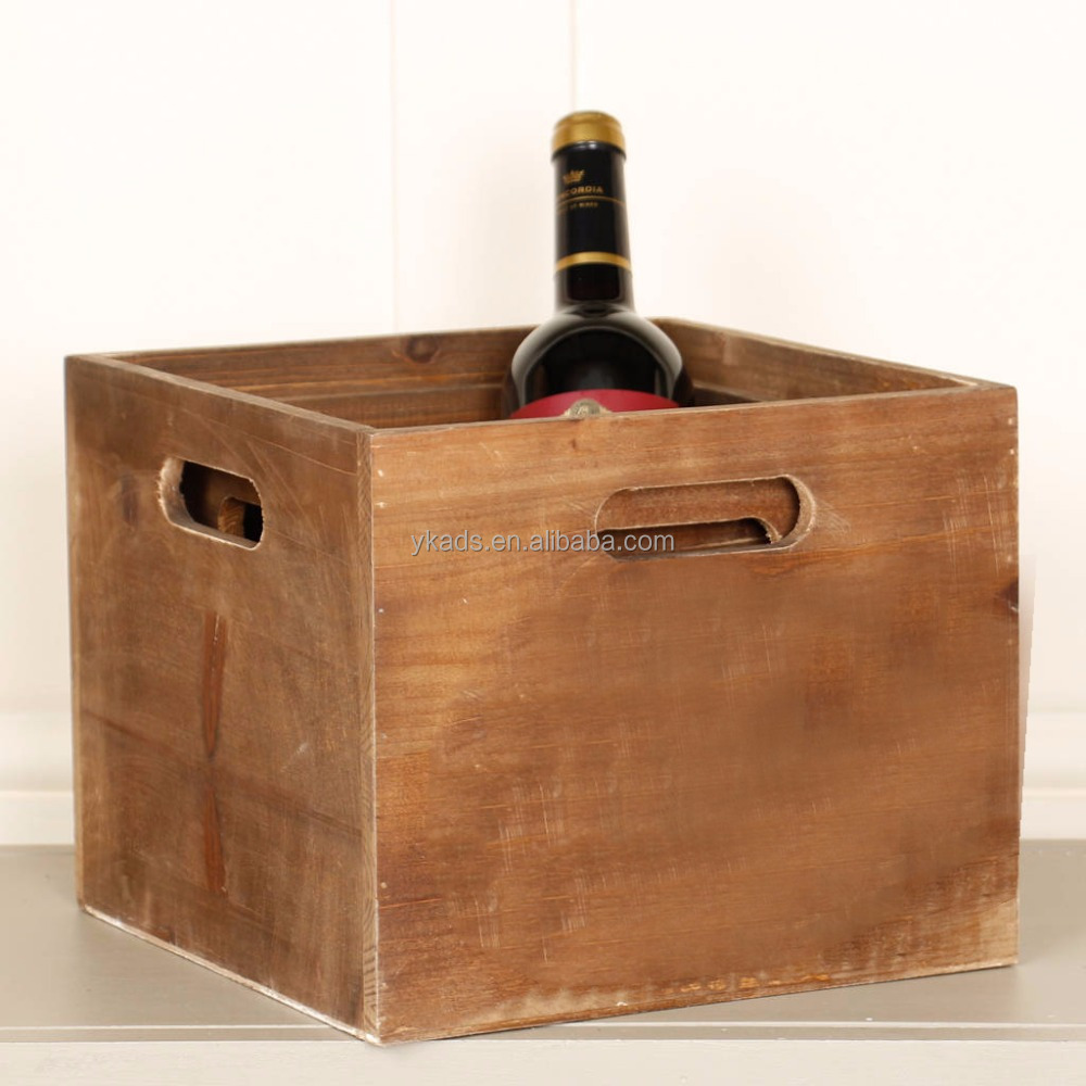 Collapsible wood wine crate