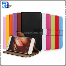 Factory Price Stand Flip Cover Genuine Leather Wallet Case For Huawei P10 With Card Slots From China
