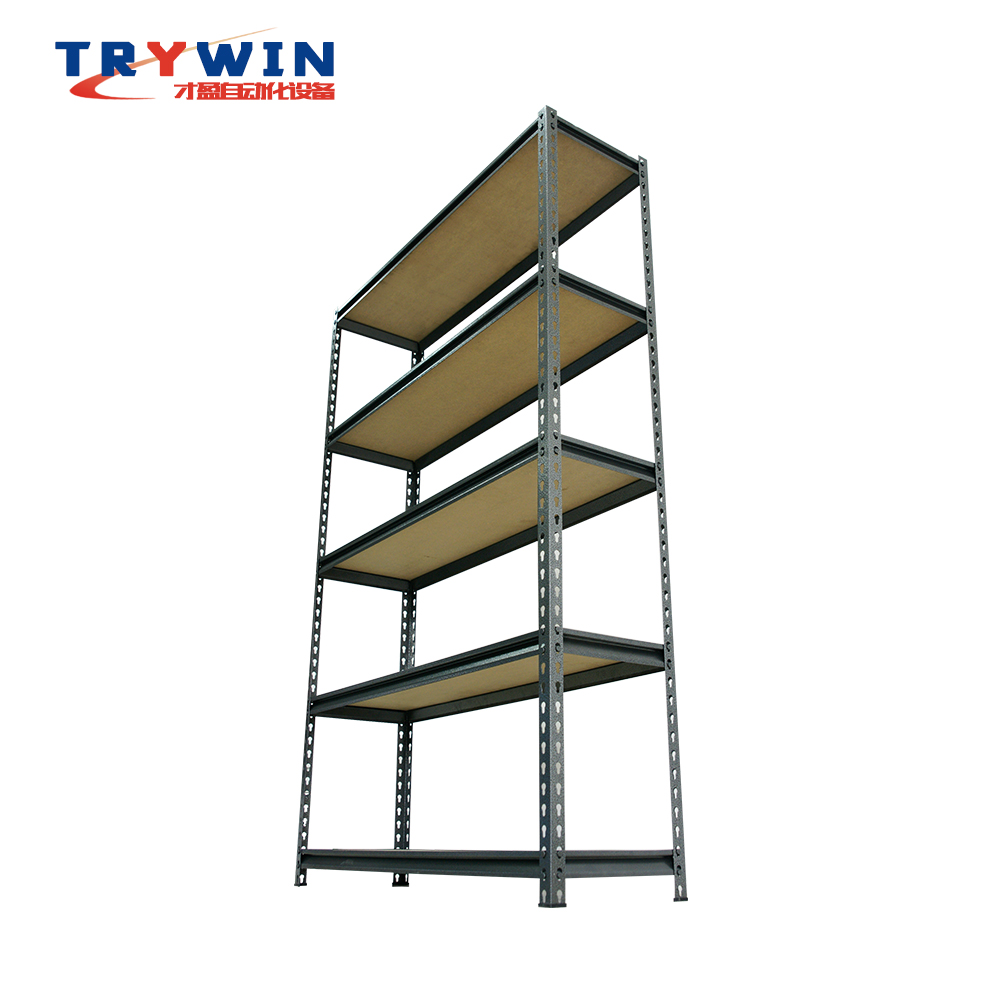 5 layers Industrial Steel Light Duty Storage Metal Boltless Shelving for Warehouses Stockrooms