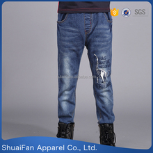 New boys jeans embroidery designs wholesale kids jeans
