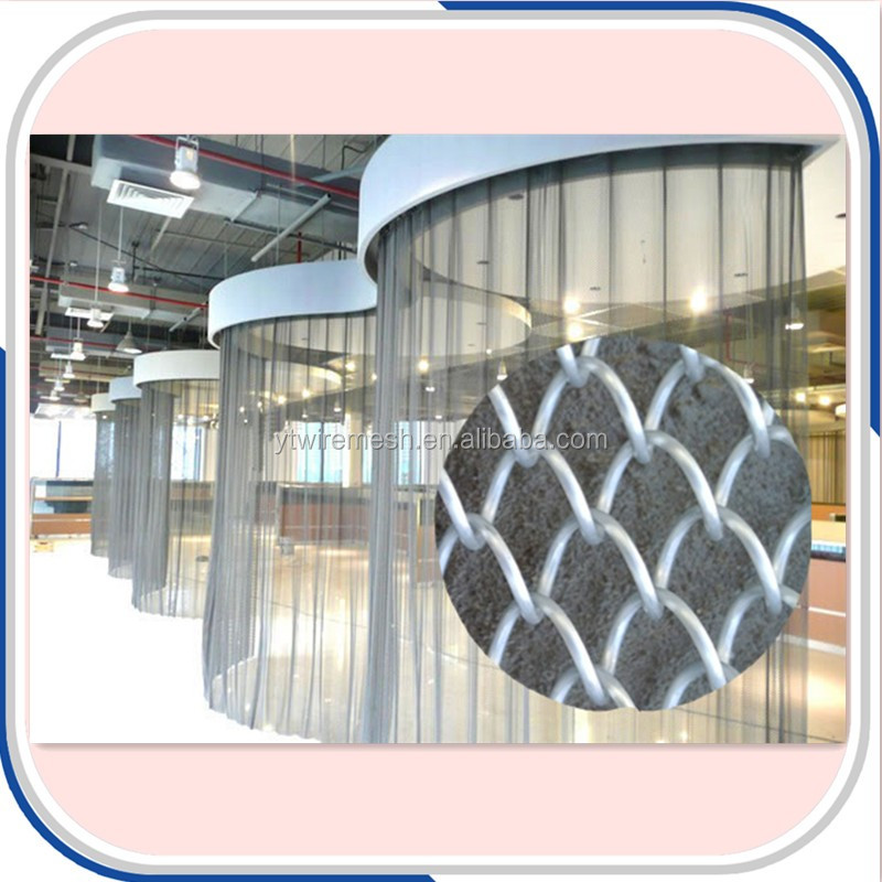 Aluminum Alloy Coil Metal Mesh Chain Link Curtain Drapery