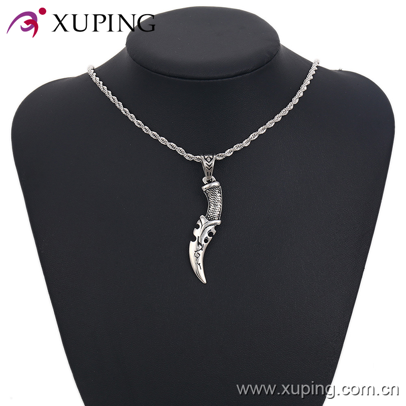 pendant -24-xuping fashion high quality wholesale stainless steel jewelry dagger shape pendants