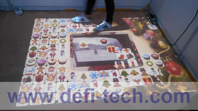 Best price DEFI Interactive floor projection system for advertising / 120 different effects and necessary hardware free shipping