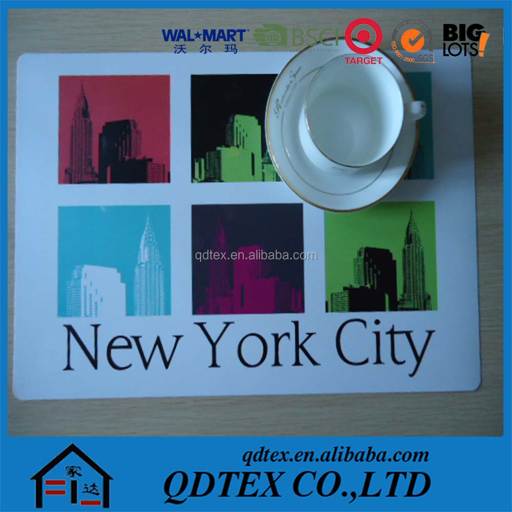 2015 advertising promotional polypropylene plastic placemat