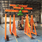 Portable mobile gantry crane for lifting heavy things