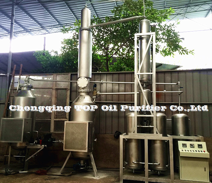 High quality used diesel engine oil recover to base oils machinery,no add any chemical, adopting distillation technology