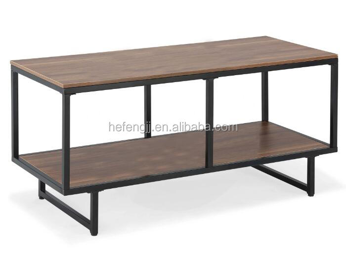 Walnut MDF TV Cabinet metal TV Shelf for sale
