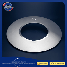 TUNGSTEN CARBIDE BLADE OF SLITTING ROLLER MACHINE