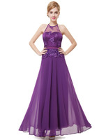 Women's Sexy Halter Empire Waist Long Party Prom Dress HE08353PP