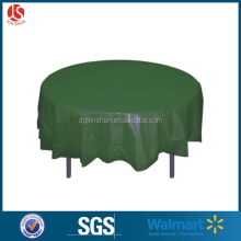 Round Plastic Table Cover, 84-Inch, Outdoor Plastic Table Cloth,Forest Green