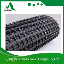 Asphalt Coated Reinforcement 50-50KN/m Fiberglass Geogrid with ISO9001