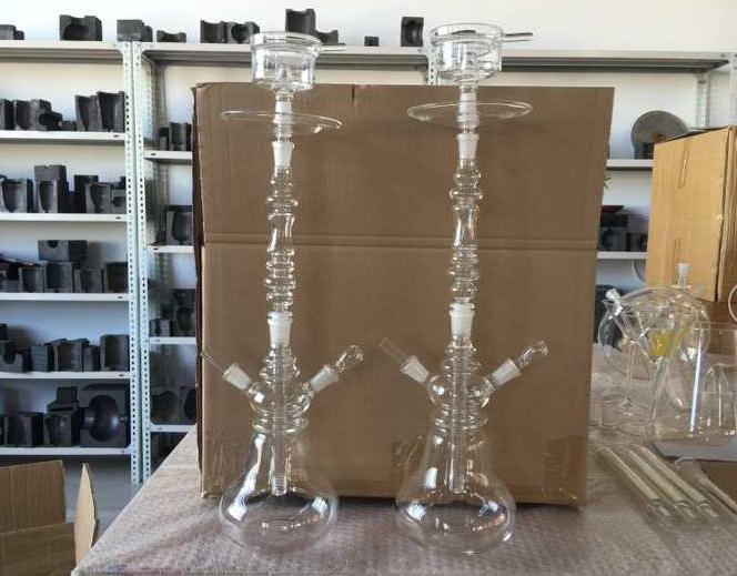 Hot sell borosilicate clear crystal glass hookah
