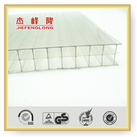 Round Skylights Roof Cover Light Weight Transparent Polycarbonate Hollow Sheet and Plastic Glass Sheet