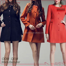 european style wool/polyester new model coat women 2013 with long sleeve and cape