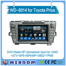2 din car dvd gps navigation for Toyota Puris 8'' car dvd player with Android navigation system with tv BT usb radio ipod