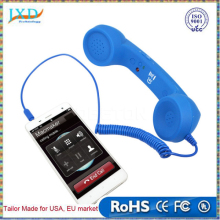 Vintage POP Cell Phone Handset 3.5mm Audio Jack Volume Control Mic Retro Telephone POP Cell Phone Handset Receiver for Iphone