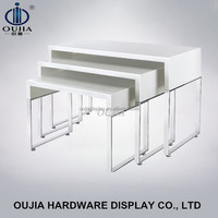 stainless steel shop table clothes ,shop table display stand