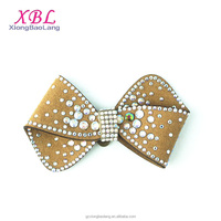 XBL 2016 Latest Suede Bow Rhinestone