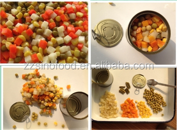 Top quality canned mixed vegetable 425gx24tin /ctn