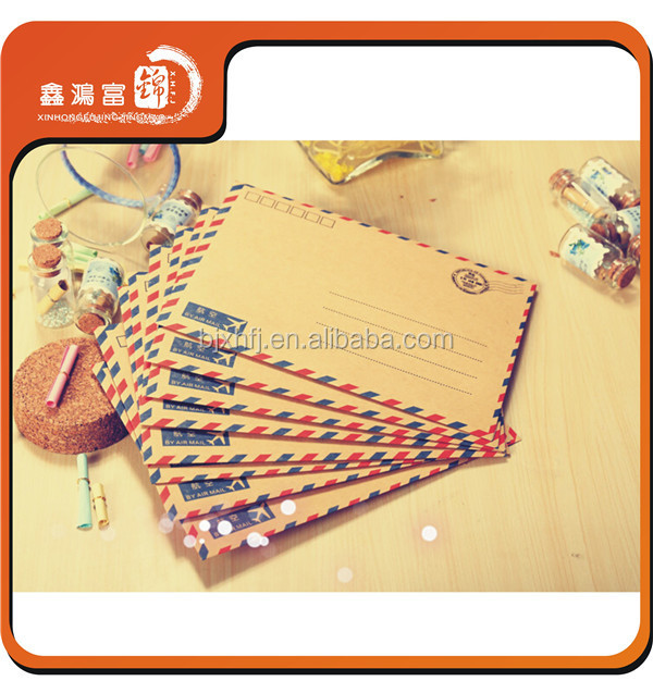 wholesale beautiful color edged standard envelope size