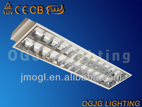 2x36w t8 recessed fluorescent louver ceiling light CE CB SAA