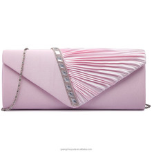 LY6682 MISS LULU LADIES DIAMANTE SATIN CLUTCH EVENING BAG PARTY HANDBAG GUANGZHOU PU LEATHER PURSE FASHION 2018