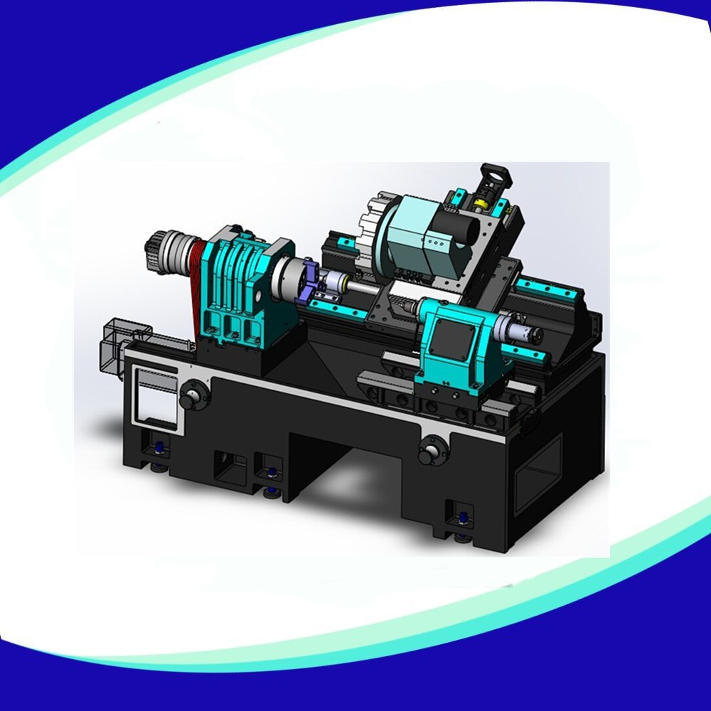 (TCK-45L/TCK-45H) double turret twin spindle cnc lathe with milling function