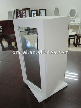 rotatable standing mirror jewelry armoire